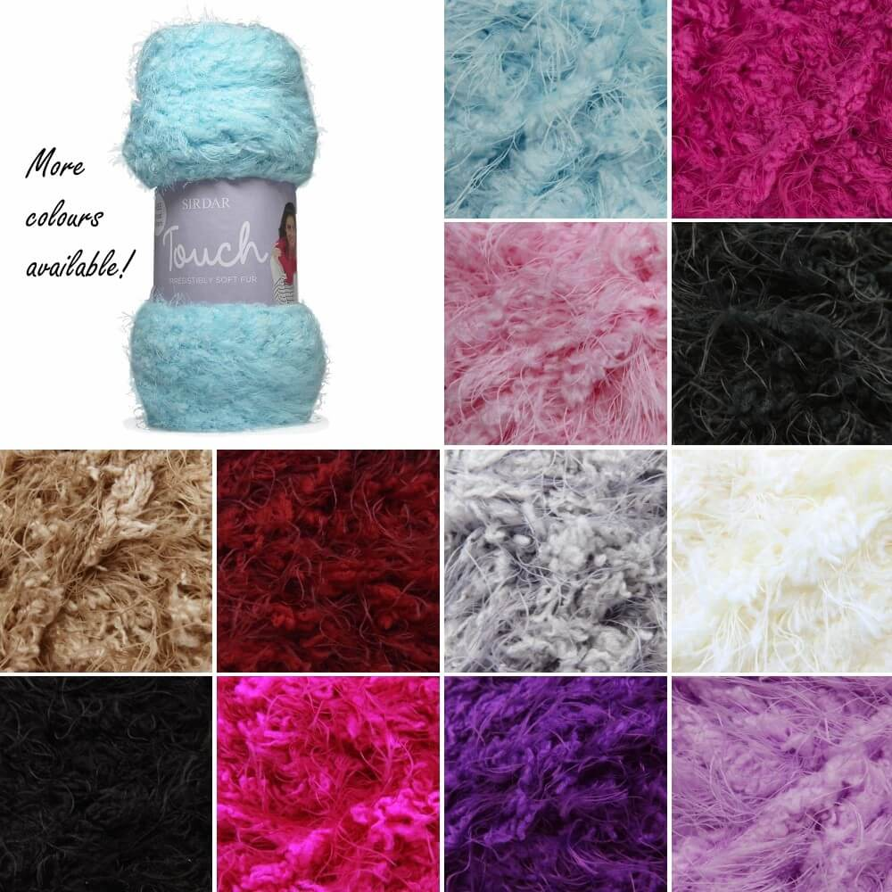 Sirdar Touch Fluffy Novelty Supersoft Fur Knitting Knit Yarn Crochet Crafts 100g Flurry 1