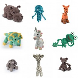The Knitty Critters Collection Crochet Craft Safari Animals Unicorn Toys Gifts