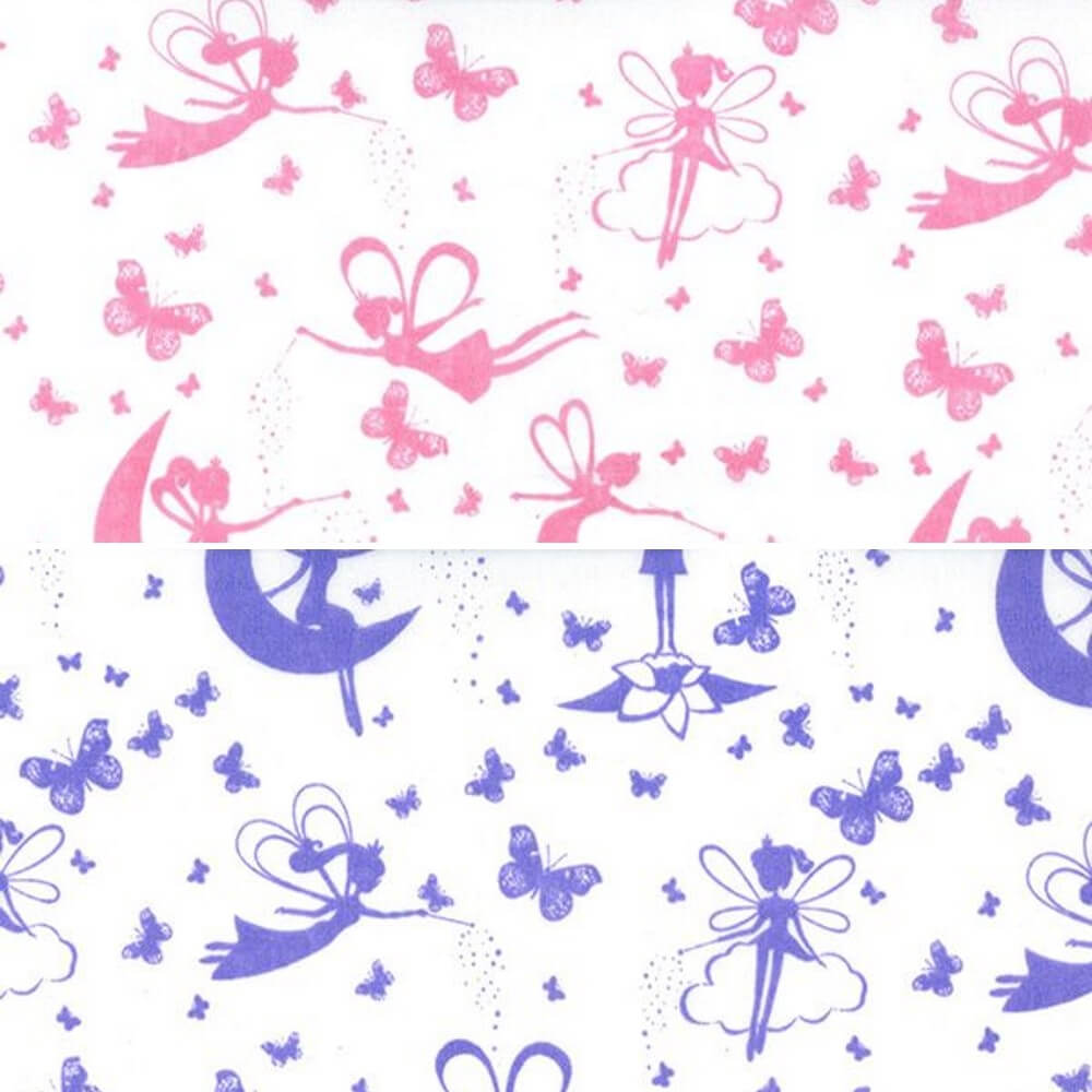 Polycotton Fabric Magical Fairies Fairy Wishes Fantasy Craft Material Pink