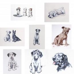 Cecil Aldin Cross Stitch Kit Man's Best Friend Dog Puppy Puppies West Highland