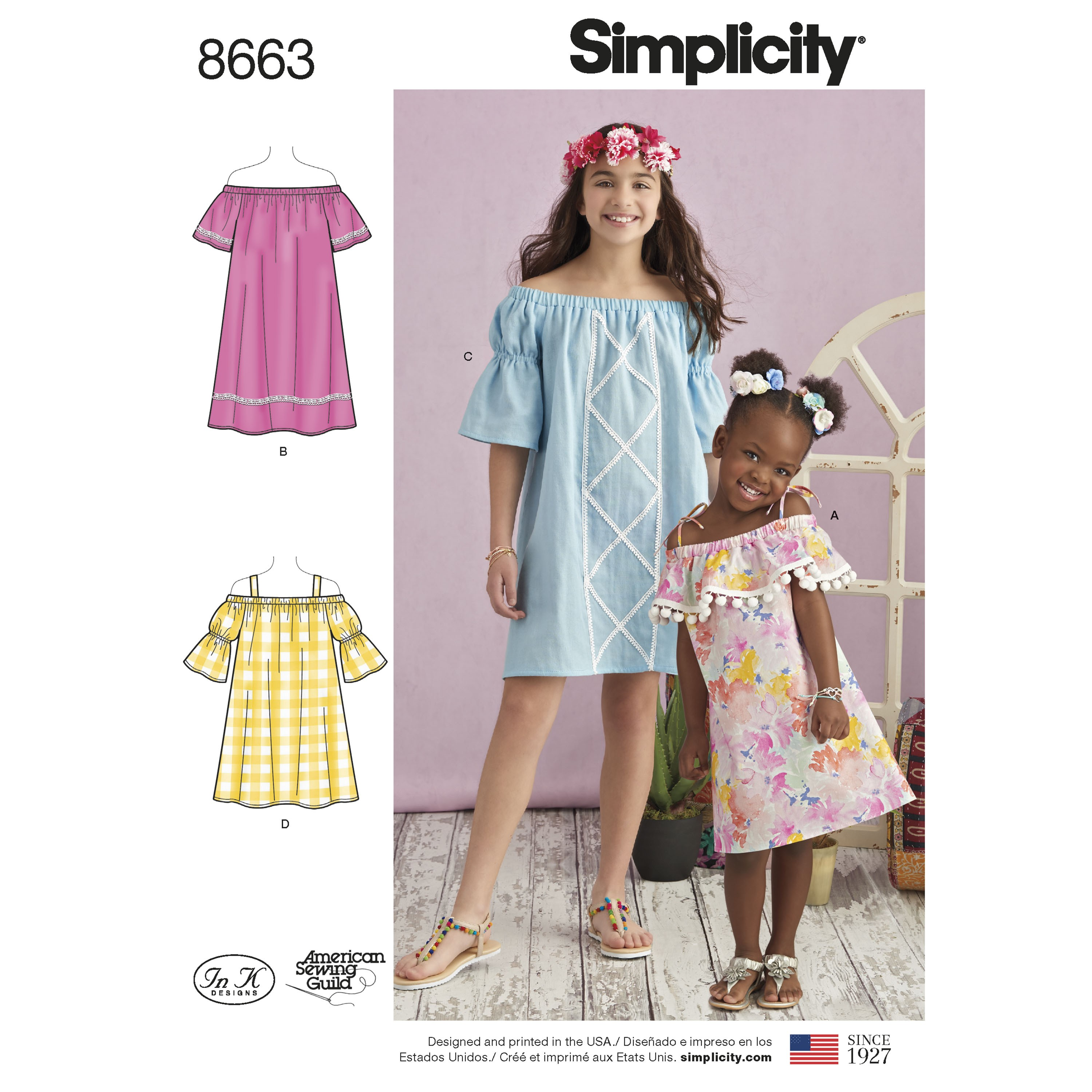 8542ec166a2f Simplicity Sewing Pattern 8663 Child's and Girls' Dress