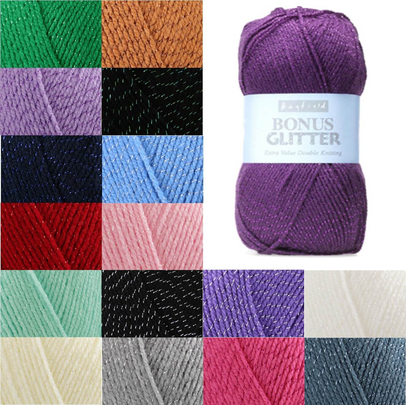 Sirdar Hayfield Bonus Glitter DK 100g Ball Knit Craft Double Knit Yarn Dreamcatcher 225
