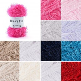 Sirdar Funky Fur Novelty Eyelash Yarn Knitting Knit Crochet Crafts 50g Ball Wool