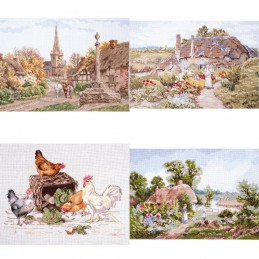 Rural England Cross Stitch Kit various Artists Wildlife Countryside Animals Bird