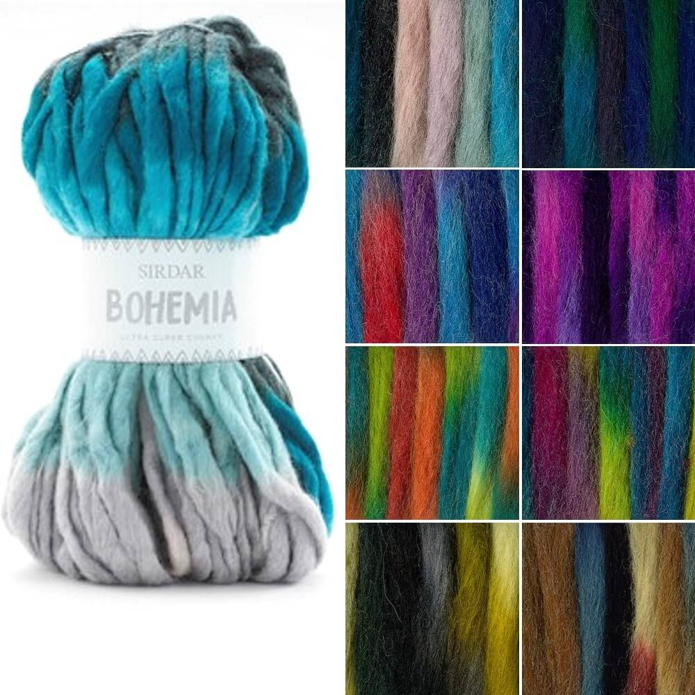 Sirdar Bohemia Ultra Super Chunky Knitting Knit Crochet Crafts 150g Ball Jibes