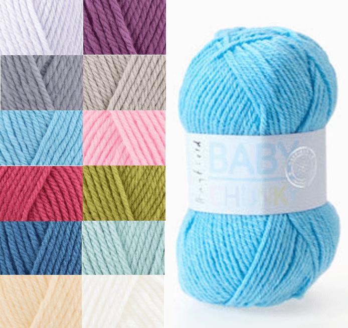 Sirdar Hayfield Baby Chunky 100g Ball Knitting Crochet Knit Craft Yarn 401 Cream