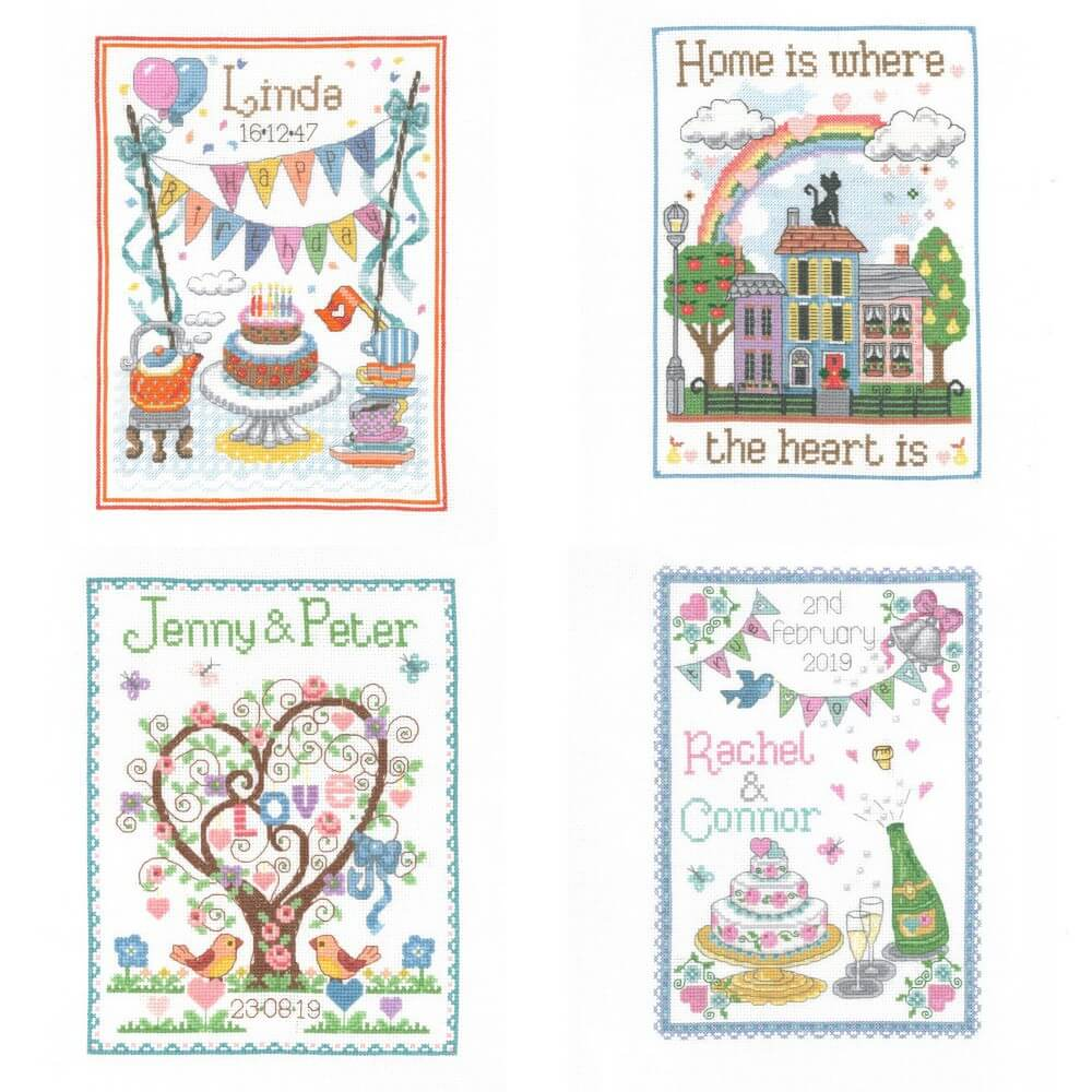 Animal Magic Celebration Samplers Cross Stitch Kit Birthdays Weddings Anniversary Births