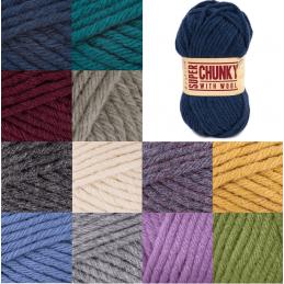 Sirdar Hayfield Super Chunky Wool 100g Ball Knitting Crochet Knit Craft Yarn