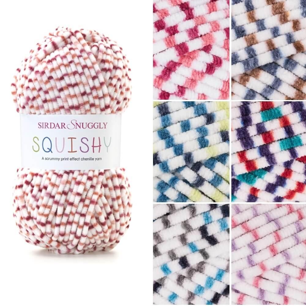 Sirdar Snuggly Squishy Chenille Knitting Knit Crochet Crafts 100g Ball Bounce