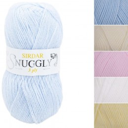 Sirdar Snuggly 3 Ply Baby Soft Knitting Knit Crochet Crafts 50g Ball