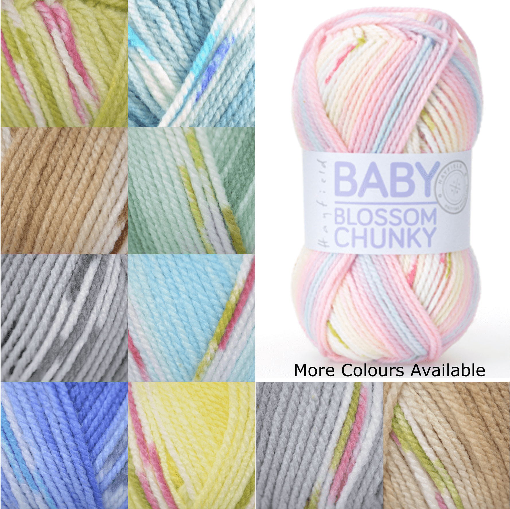 Sirdar Hayfield Baby Blossom Chunky 100% Acrylic 100g Ball Knit Craft Yarn 350 Baby Bouquet
