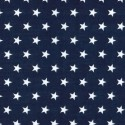 Polycotton Fabric 10mm Stars In Rows Magic Starry Craft Material Navy