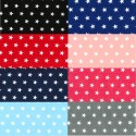 Polycotton Fabric 10mm Stars In Rows Magic Starry Craft Material