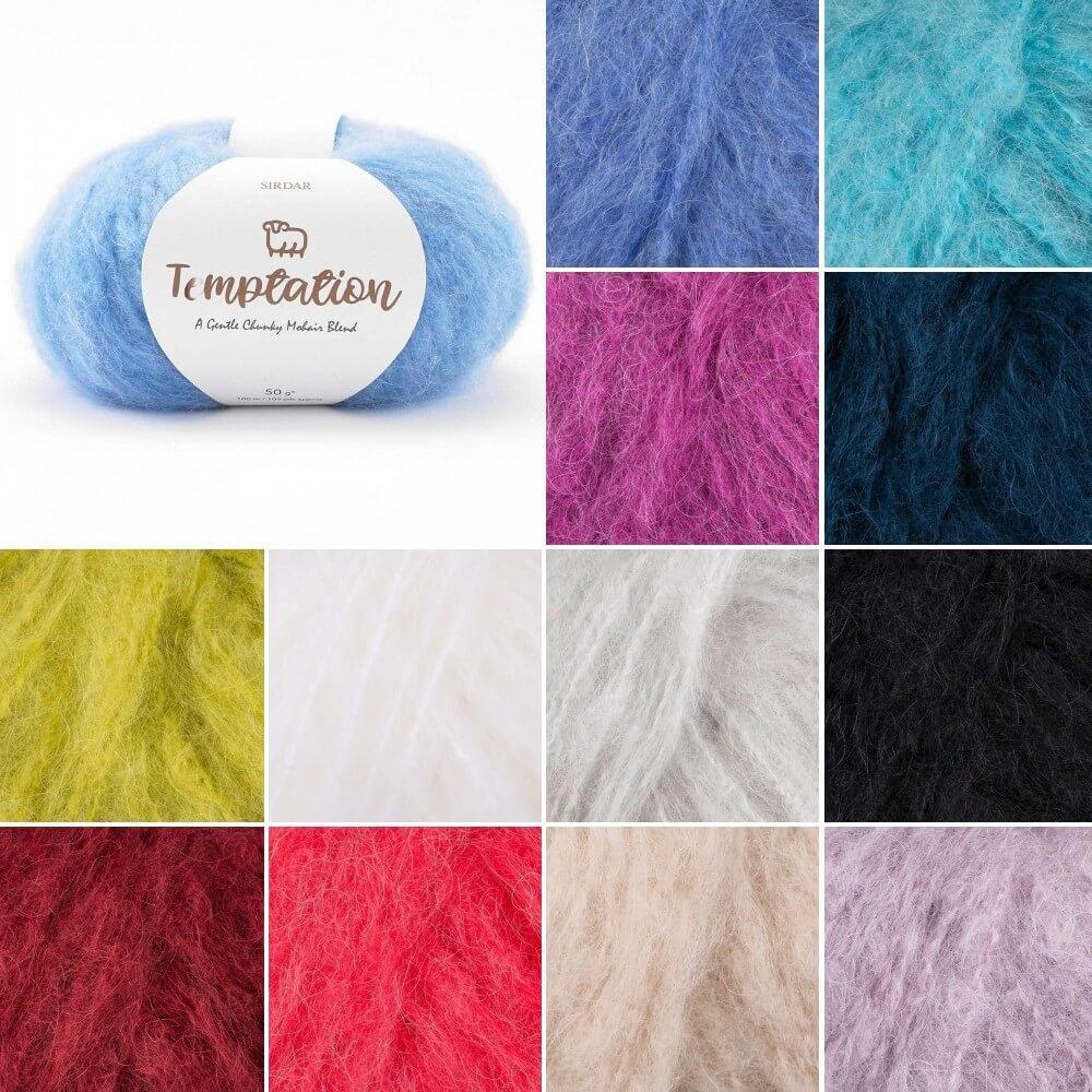 Sirdar Temptation Mohair Chunky Yarn Knitting Knit Crochet Crafts 50g Ball Blush