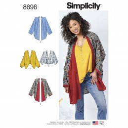 Simplicity Sewing Pattern 8696 Misses Kimono Wrap Cardigan Cover Up
