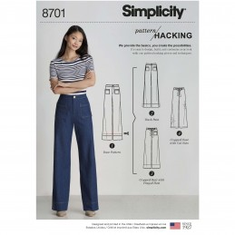 Simplicity Sewing Pattern 8701 Misses' Pattern Hack Wide Leg Trousers