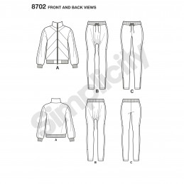 Simplicity Sewing Pattern 8702 Misses Mimi G Tracksuit Separates