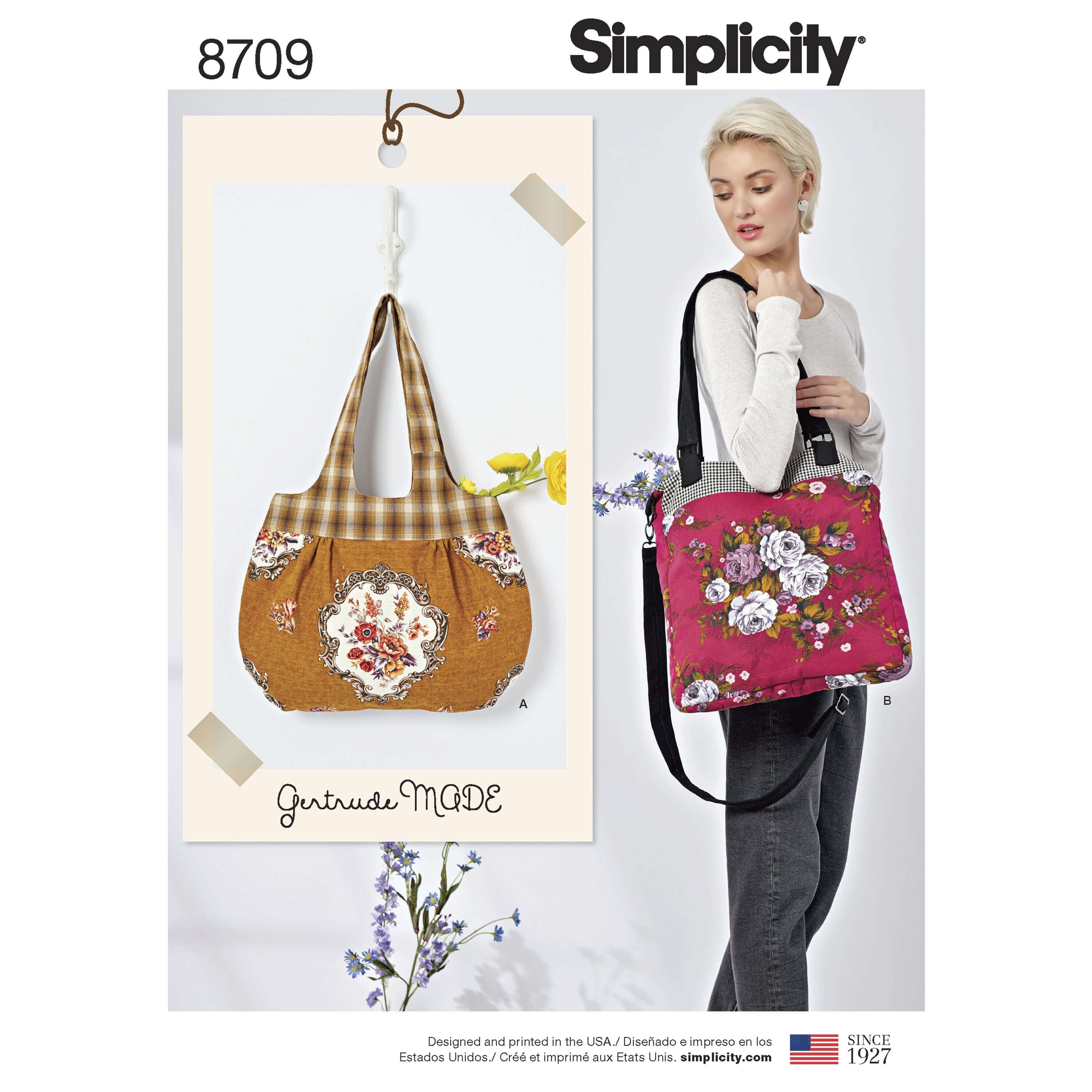 Simplicity Sewing Pattern 8709 Handbags & Shoulder Bags by Gertrude Made
