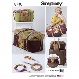 Simplicity Sewing Pattern 8710 Quilted Travel Duffle Carry Bags