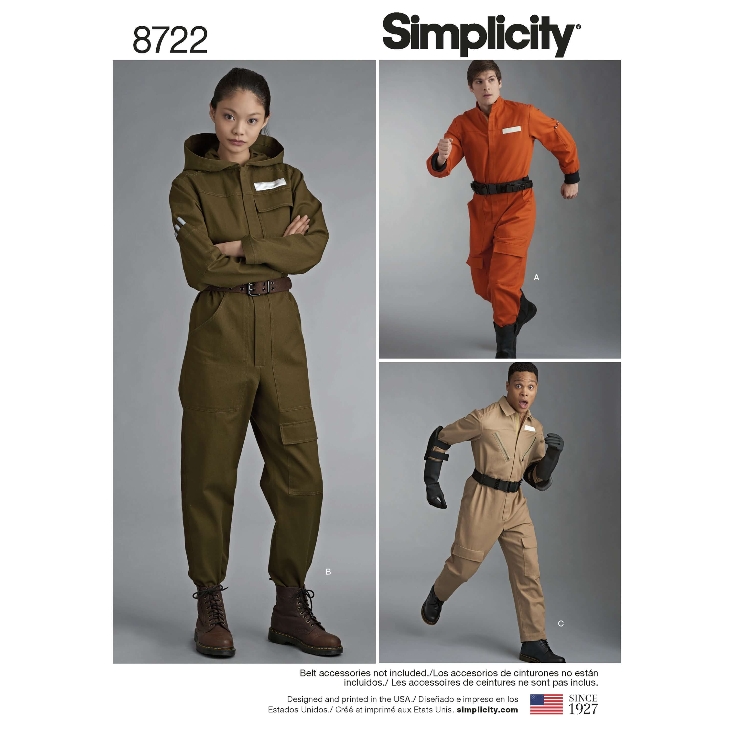 Simplicity Sewing Pattern 8722 Misses Men's & Teens Overall Costume