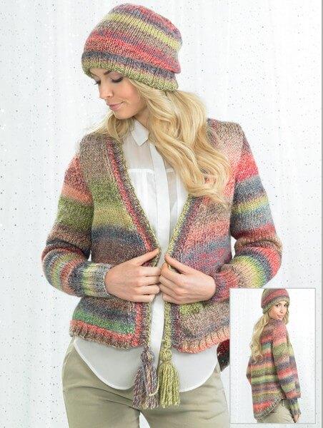 Knitting Pattern James C Brett JB245 Chunky Cardigan & Hat
