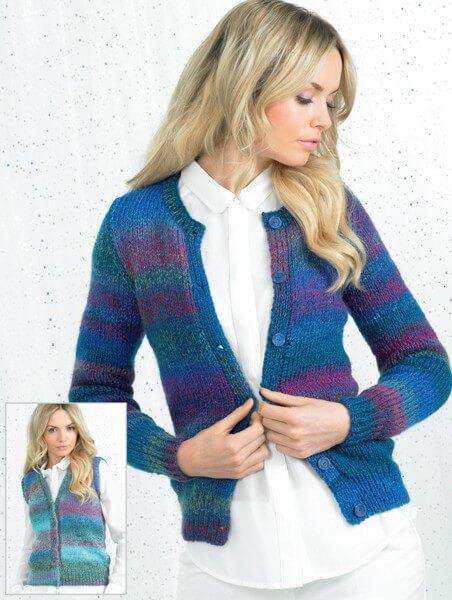 Knitting Pattern James C Brett JB247 Chunky Cardigan