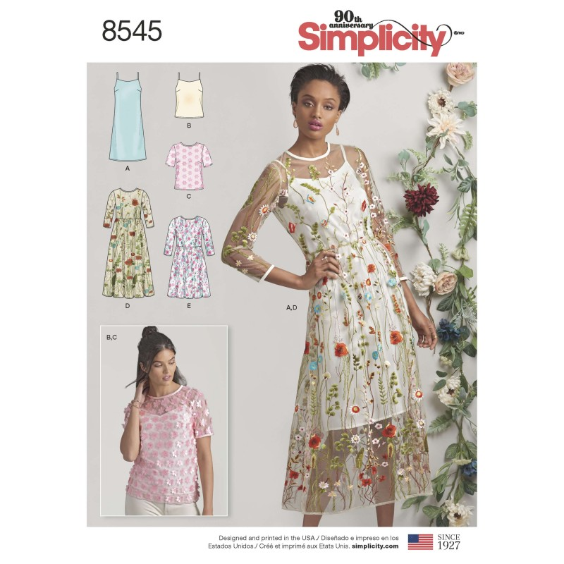 Simplicity Sewing Pattern 8872 Dresses P5 12-14-16-18-20