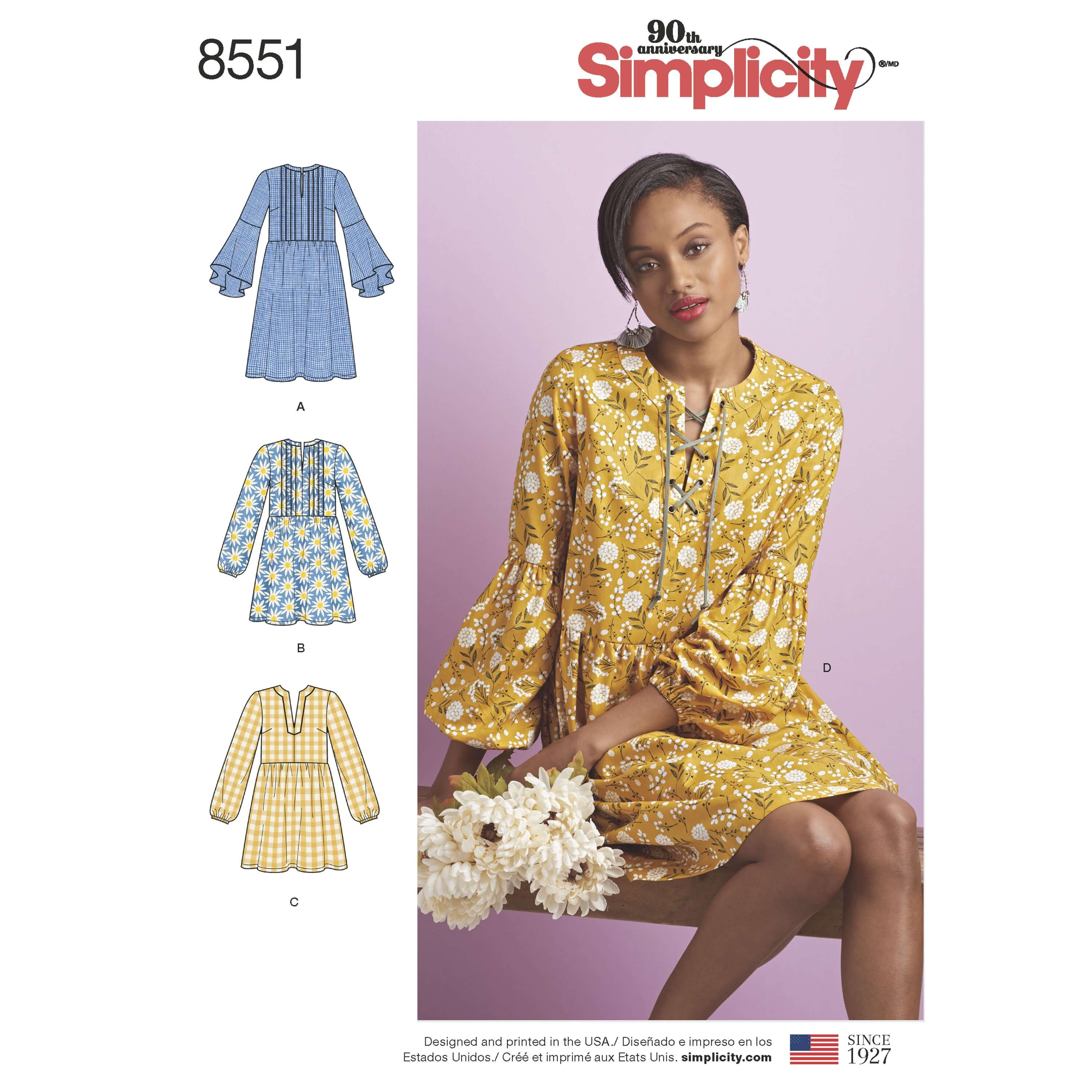 Simplicity Sewing Pattern 8551 Misses Dress or Tunic with Variations