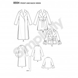 Simplicity Sewing Pattern 8554 Misses Soft Trench Coat and Jacket