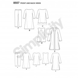 Simplicity Sewing Pattern 8557 Misses Easy to Sew Knit Casual Wear