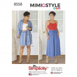 Simplicity Sewing Pattern 8558 Misses Mimi G Separates Trousers Tops Jacket