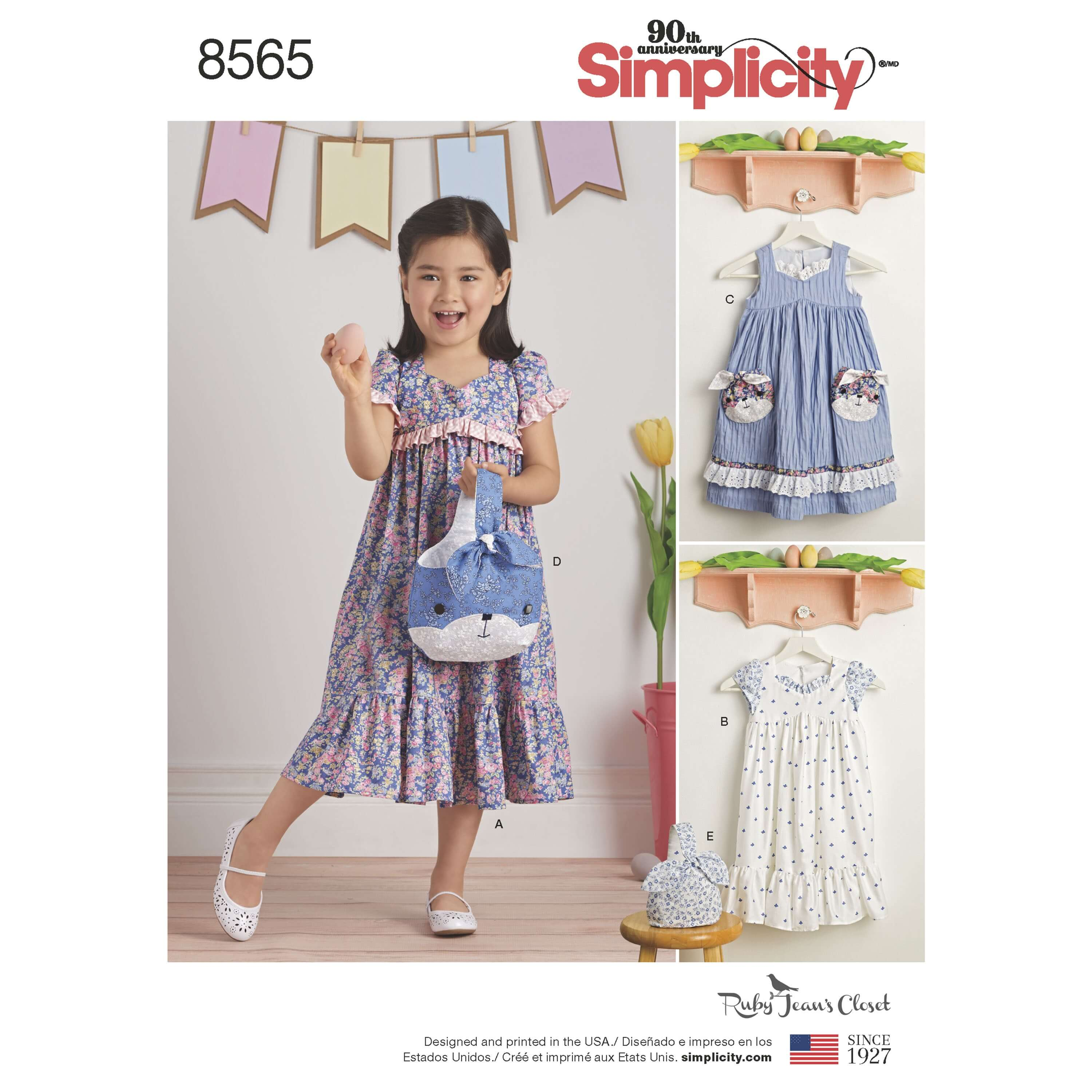 Simplicity Sewing Pattern 8565 Children's Dresses and Bags by Ruby Jean