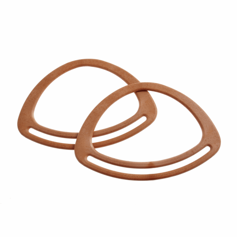Pair Of Plastic Bag Handles Bag Making Craft Accessories Varies Sizes & Colours BH1L Oval 7inch Light Brown