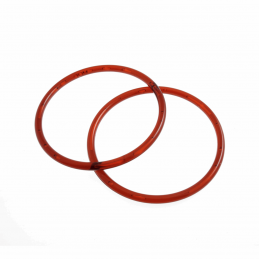 Pair Of Plastic Bag Handles Bag Making Craft Accessories Varies Sizes & Colours CFH1/AMB Round 13cm Amber
