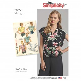Simplicity Sewing Pattern 8593 Women's Vintage Poncho Blouses Shirts