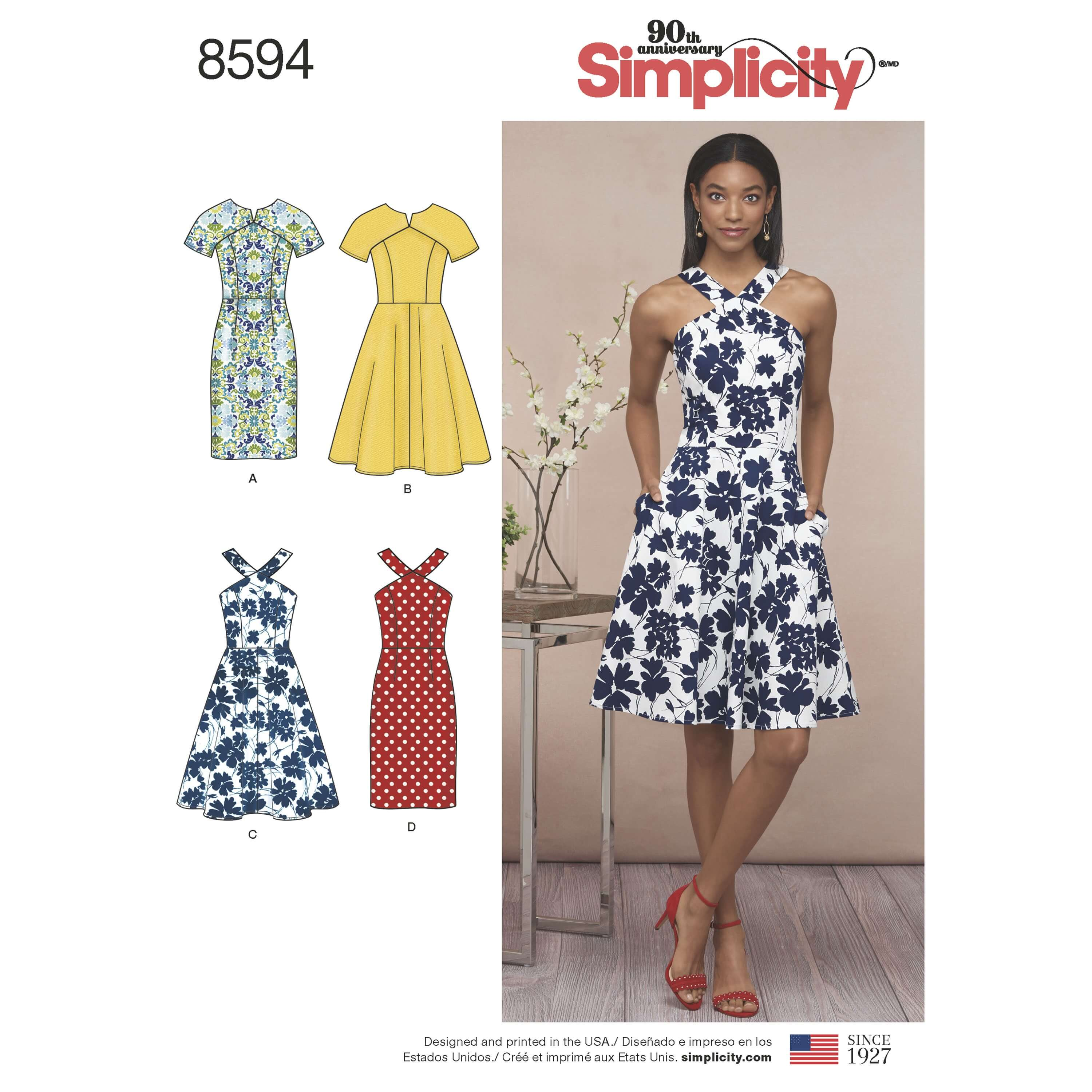 Simplicity Sewing Pattern 8594 Women's and Petite Summer Dresses