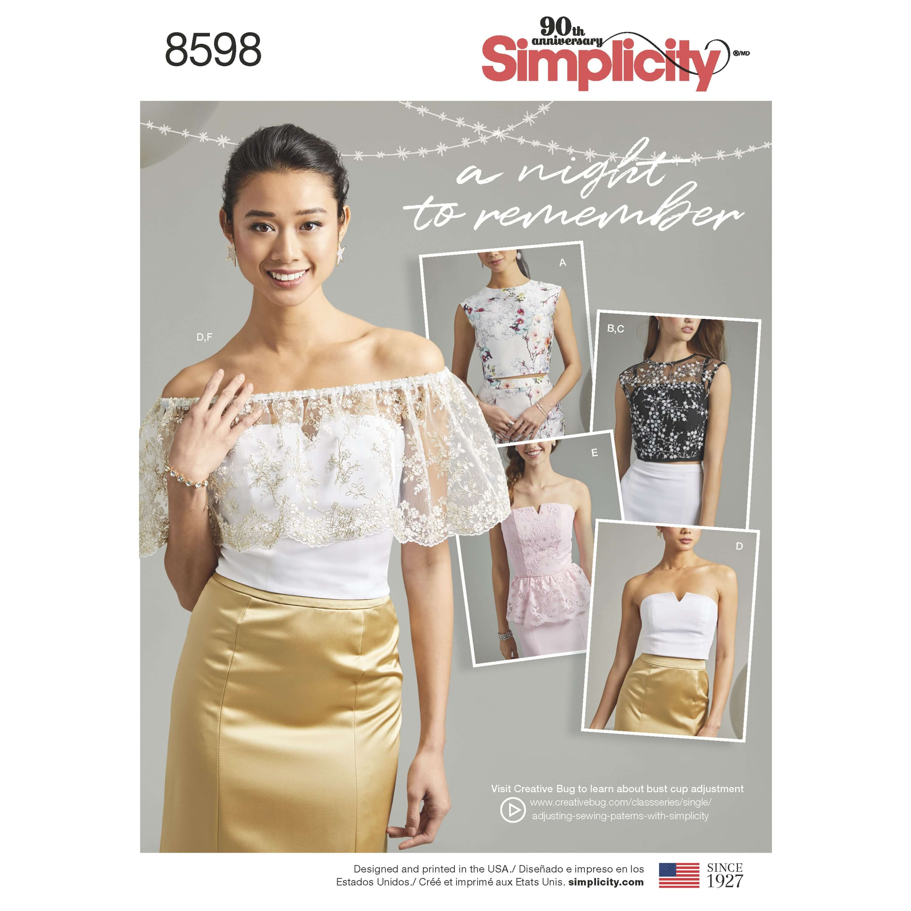 Simplicity Sewing Pattern 8598 Women's Special Occasion Tops Mix and Match
