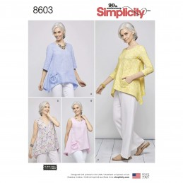 Simplicity Sewing Pattern 8603 Women's Knit Loose Fit Handkerchief Tops