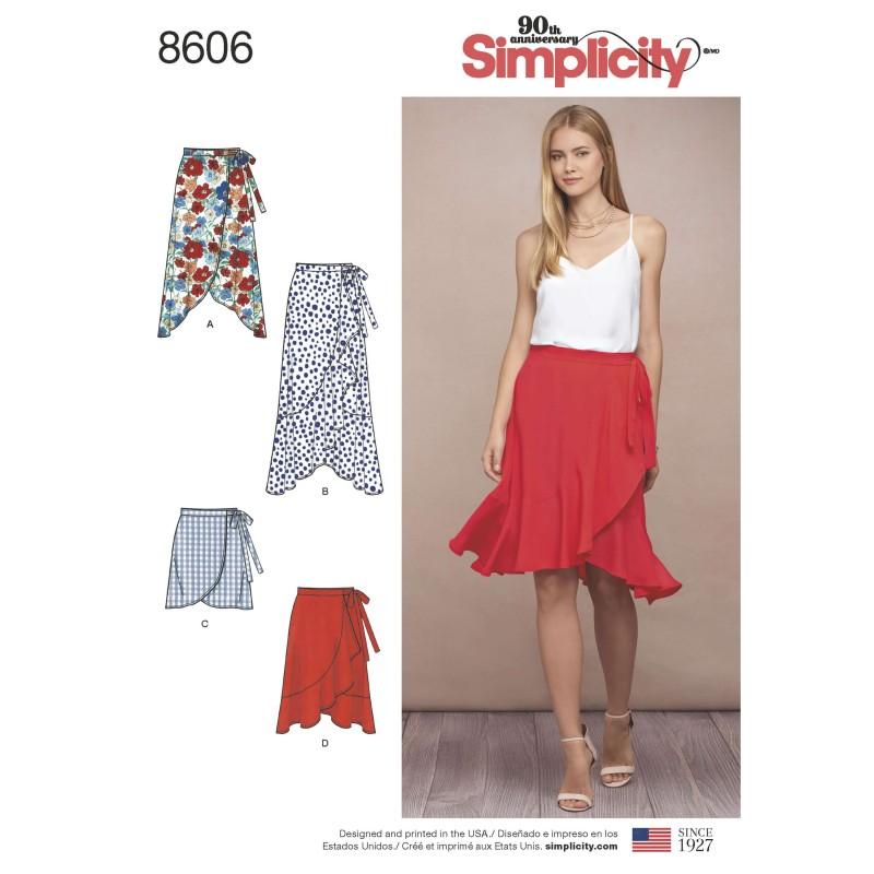 Simplicity Sewing Pattern 8606 Women's Ruffle Flare Wrap Skirt