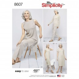 Simplicity Sewing Pattern 8607 Women's Easy to Sew Separates Tops Trousers