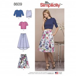 Simplicity Sewing Pattern 8609 Women's Skirts and Knit Tops Separates