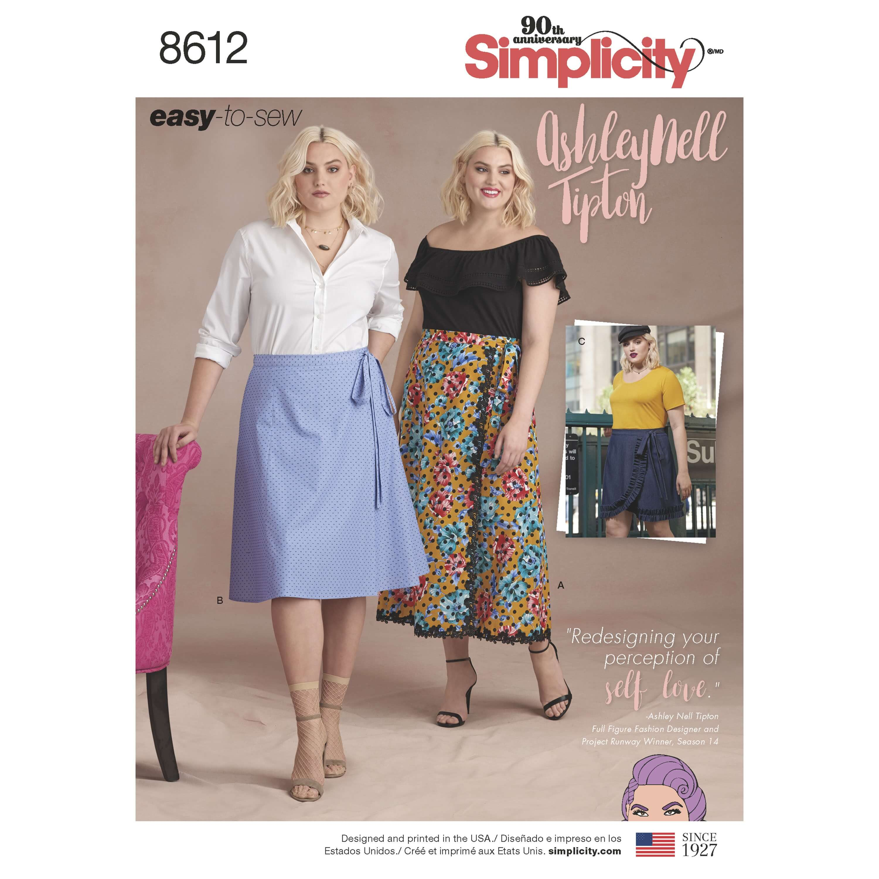 Simplicity Sewing Pattern 8612 Women's Plus Size Easy to Sew Wrap Skirts