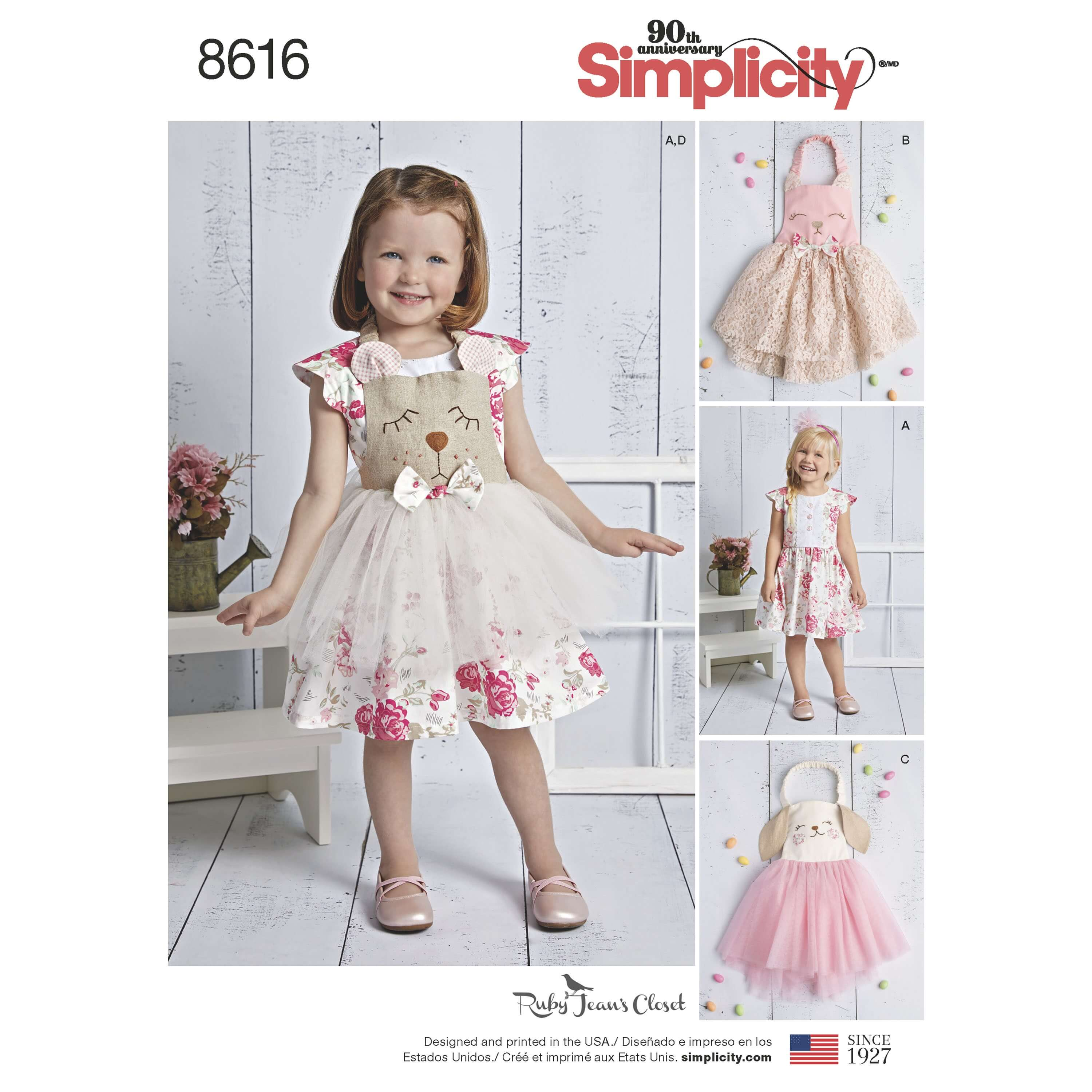 Simplicity Sewing Pattern 8616 Baby Dress and Apron Tutu