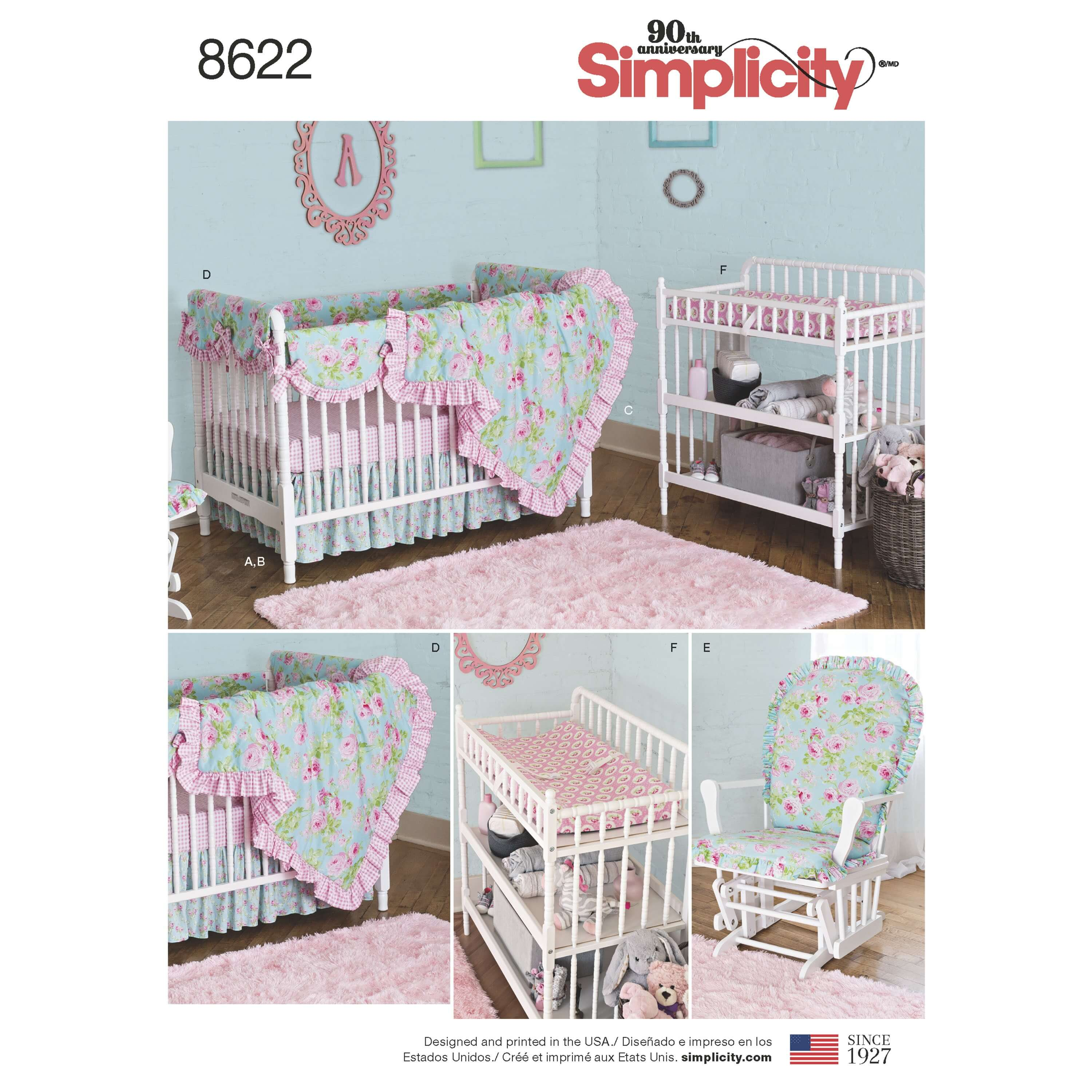 Simplicity Sewing Pattern 8622 Baby Nursery Decor Home Furnishings