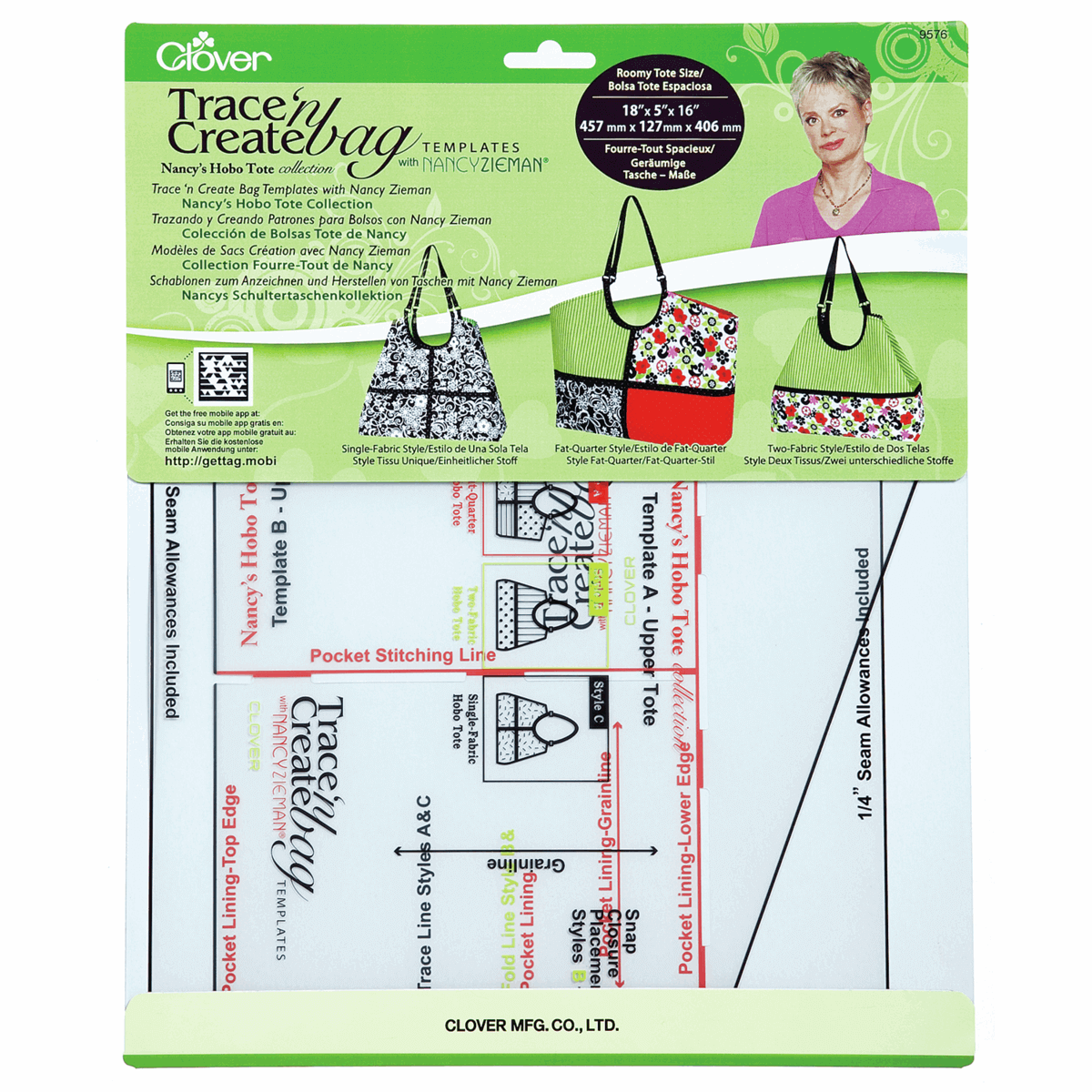 Clover Trace And Create Hobo Tote Bag Templates Handbag Strap Accessories Craft Create-a-Strap 25mm CL9502