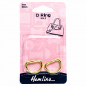 Hemline 2 x D Rings Gold Nickel Black Rose Gold Strap Adjuster Handbag Bag H4516.20.GD D Ring 20mm Gold 2 Pieces