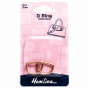 Hemline 2 x D Rings Gold Nickel Black Rose Gold Strap Adjuster Handbag Bag H4516.20.RG D Ring 20mm Rose Gold 2 Pieces