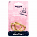 Hemline 2 x D Rings Gold Nickel Black Rose Gold Strap Adjuster Handbag Bag H4516.32.GD D Ring 32mm Gold Pieces