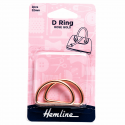 Hemline 2 x D Rings Gold Nickel Black Rose Gold Strap Adjuster Handbag Bag H4516.32.RG D Ring 32mm Rose Gold 2 Pieces