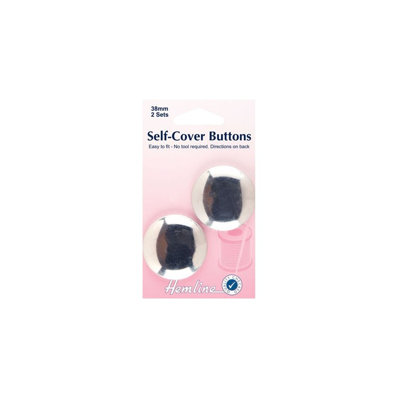 Self Cover Buttons: Metal Top 38mm
